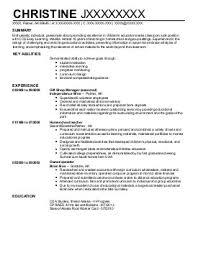 Child Care Resume Objective Christine Writing Resume Sample