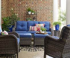 patio seating sets blue patio furniture