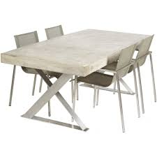 Concrete Top Dining Tables Polished Concrete Dining Table With Stainless Steel Legs Urban
