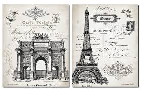 Eiffel Tower Home Decor Accessories Wall Decor Beautiful Vintage Paris France Landmarks Arc De 33
