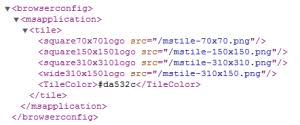 more browserconfig xml less html