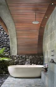 outdoor bathroom design, love the ceiling! l Alila Ubud, Bali by Kerry Hill  Architects