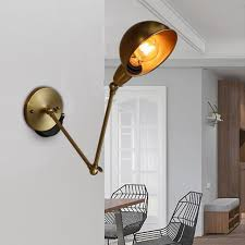 retro industrial swing arm wall mount light sconce e27 lamp adjule fixture