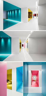 modern office colors. This Office Interior Used Color To Create Distinct Spaces Modern Colors