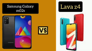 Samsung Galaxy m02s Vs Lava z4 - YouTube