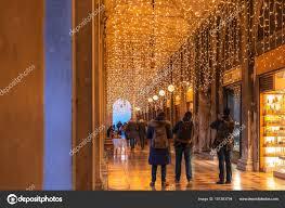 Christmas Lights In Venice Venice Italy January 2018 Tourists Enjoy Christmas Lights