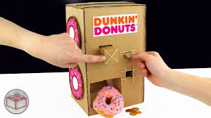 how to make a dunkin donuts vending machine from cardboard