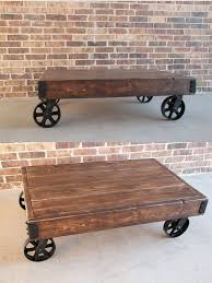 unique custom made vintage inspired industrial cart coffee table trolley cart coffee table