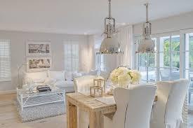 shabby chic pendant lighting. Shabby Chic Dining Room With Pendant Lights Add Metallic Glint Lighting D