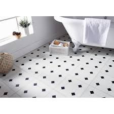 self adhesive floor tiles black white diamond effect these