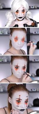 transforming into a scary clown for party