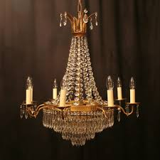a french gilded tent 9 light antique chandelier