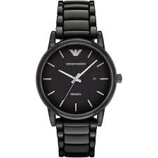 buy the men s emporio armani ar1508 watch francis gaye jewellers men 039 s ceramica black ceramic bracelet watch