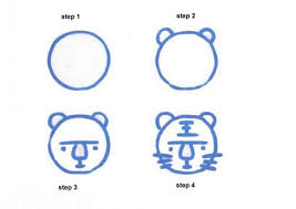 easy animals to draw step by step. Simple Step How To Draw A Tigre Inside Easy Animals To Draw Step By D