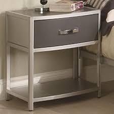 bedroom  elegant metal nightstands with drawers metal platform