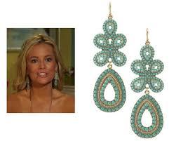 episode 9 curacao stella dot capri chandelier earrings in turquoise