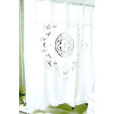 canvas shower curtain cotton white ruffle