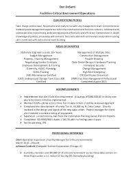 Facility Manager Resume Samples Facility Manager Resume Sample Resume Creator Simple Source