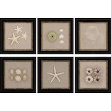 coastal 6 piece framed wall art set on wall art set of 6 with set of 6 wall art wayfair