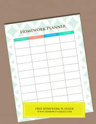 Free Homework Planner Free Homework Planner 1 Home Printables
