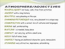 adjectives to describe places list - Buscar con Google