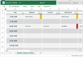 Make Schedule On Excel Make Class Schedule Magdalene Project Org