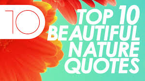 English Quotes On Beauty Best Of Top 24 Beautiful Nature Quotes YouTube