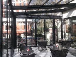 retractable roof bifold doors in cafe laville london sliding door cafe saudireiki