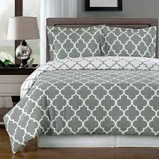 meridian gray reversible cotton comforter set photo 1