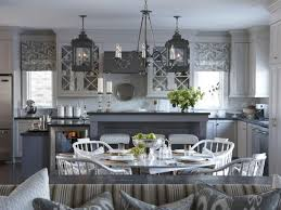 kitchen window lighting. Transitional Kitchen With Gray Hues And Lantern Lighting Window