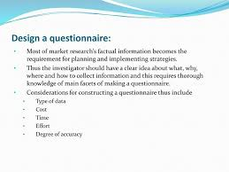 Considerations When Designing A Questionnaire Strategic Market Management 7th Edition David Aaker Ppt