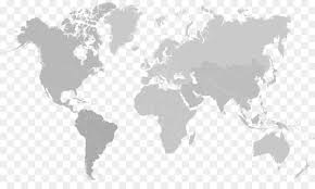 Map Of The World For Powerpoint World Map Globe Microsoft Powerpoint Gray World Map Png Download