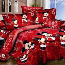 100 cotton 4 pieces bed linen mickey and minnie kids mouse bedding sets duvet cover