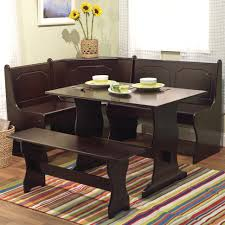 kitchen breakfast nook furniture. Full Size Of Kitchen: Breakfast Nook Table Design Along With Dark Brown Stained Wooden Material Kitchen Furniture N
