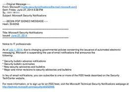 Microsoft Stops Sending Out Security Advisories Via Email