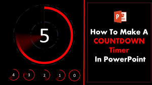 Countdown Clock For Powerpoint Presentation How To Create A 5 Second Countdown Timer In Powerpoint Youtube
