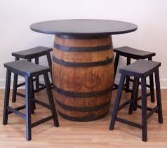 barrel table whiskey barrel table 42 tabletop 4 24 outdoor barrel furniture