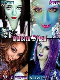 monster high makeup clawdeen abbey frankie and spectra
