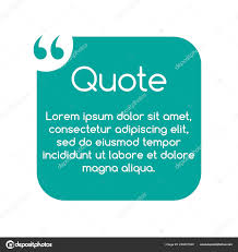 Quote Speech Bubble Template Text In Brackets Citation Frame