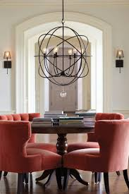 ... Dining Room Ideas, Appealing Black Round Modern Iron Dining Room Light  Stained Design: unique ...