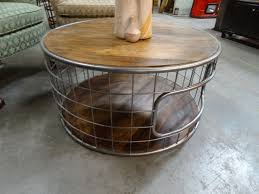 round metal cage coffee table with