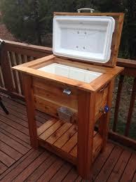 beautiful cedar wood ice cooler great