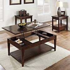 Coffee Table Set Of 3 Steve Silver Crestline 3 Piece Coffee Table Set In Distressed