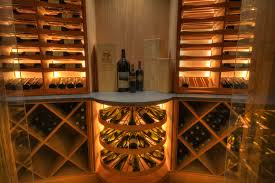 Wine room lighting Wine Cooler Wine Cellars Los Angeles Home Revel Custom Wine Cellars