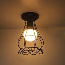 industrial flush mount ceiling lights. Industrial Flush Mount Ceiling Light With Flower Shade Metal Cage In Black Lights D