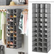 details about hanging shoe storage shelves closet organizer rack portable bag cabinet tower