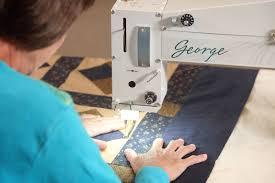 George longarm quilting machine   APQS & Liz Porter Quilting with George Adamdwight.com