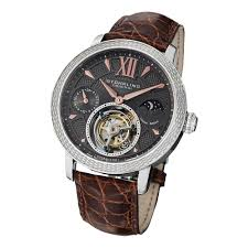 stuhrling original watches trends stuhrling original men s damier tourbillon mechanical crocodile strap watch