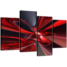 Canvas Art Abstract Canvas Art Prints In Deep Red For Living Room