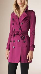 cotton sateen trench coat hot pink trenchcoat by burberry
